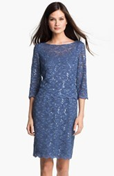 Alex Evenings Shimmering Lace Sheath Dress