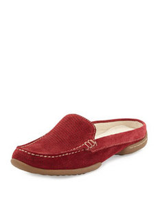 Donald J Pliner Veni Perforated Suede Slide, Red
