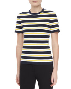 Michael Kors Striped Knit Top