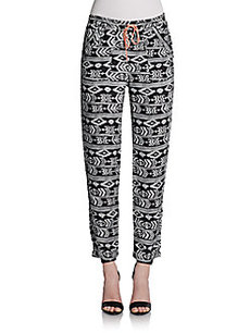 Saks Fifth Avenue GRAY Kienna Printed Pants