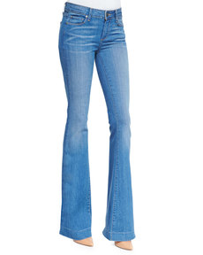 Paige Denim Fiona Harrison Whiskered Flared Denim Jeans