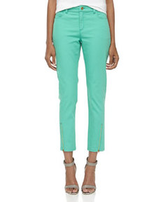 Lafayette 148 New York Bella Slim-Fit Stretch Cropped Jeans, Julep