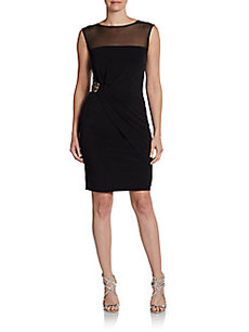 Calvin Klein Sleeveless Jewel-Waist Dress