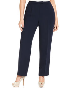 Jones New York Collection Plus Size Extended Tab Pants
