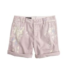 Broken-in boyfriend chino short in paint splatter