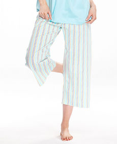 HUE Striped Capri Pajama Pants