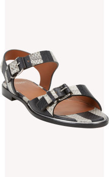 Givenchy Snakeskin Buckle-Strap Sandals