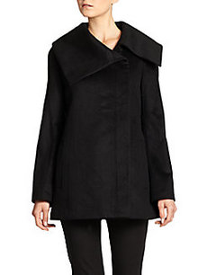 Saks Fifth Avenue BLACK Cashmere Asymmetrical Jacket