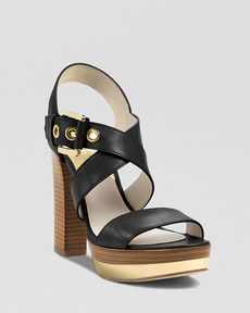 MICHAEL Michael Kors Open Toe Platform Sandals - Calder High Heel