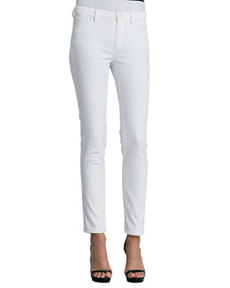 Five-Pocket Skinny Jeans, White   Five-Pocket Skinny Jeans, White