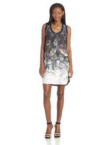 Cynthia Rowley Women's Bleached Paisley Tank Dress