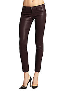 J Brand Super Skinny Coated Jeans