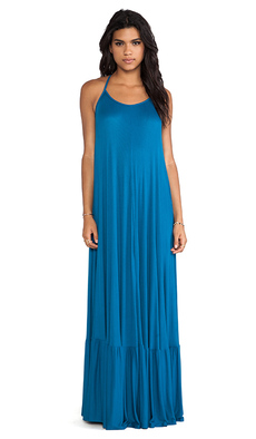 Rachel Pally Rib Dove Maxi Dress in Blue