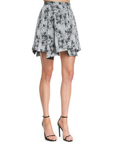 Robert Rodriguez Floral Pleated Cotton Skirt (Stylist Pick!)