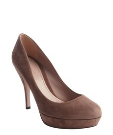 Gucci old mauve suede pump