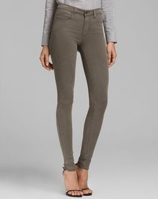 J Brand Jeans - Luxe Sateen 485 Super Skinny in Cypress