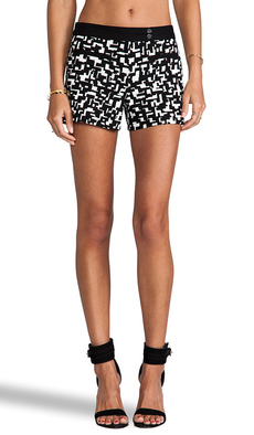 Trina Turk Elma Shorts in Black