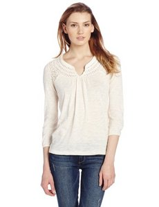 Lucky Brand Women's Camilla Mixed Lace Top