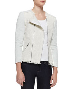 Bicolor Tweed Combo Jacket   Bicolor Tweed Combo Jacket