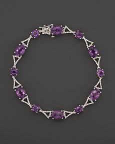 Badgley Mischka Amethyst And Diamond Bracelet