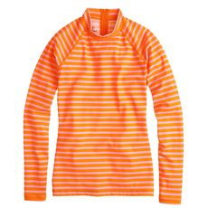 Sailor-stripe rash guard