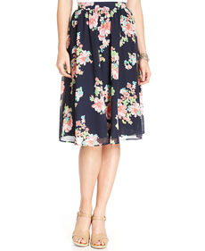 Charter Club Pleated Floral-Print Skirt