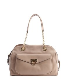 Salvatore Ferragamo powder leather chain and gancio detail shoulder bag