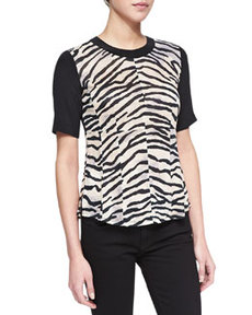 Short-Sleeve Combo Top   Short-Sleeve Combo Top