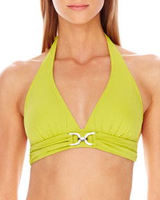 D-Ring Halter Swim Top   D-Ring Halter Swim Top