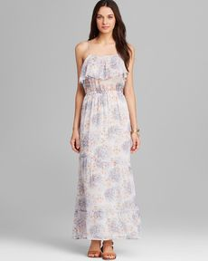 Joie Maxi Dress - Rominette Watercolor Floral Silk