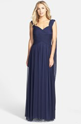 Alex Evenings Convertible Chiffon Maxi Dress
