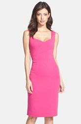 Laundry by Shelli Segal Cross Front Stretch Crepe Sheath Dress