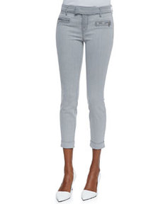 J Brand Jeans Paulina Rhythm Denim Cuffed Trousers