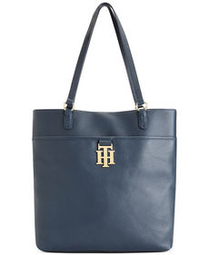 Tommy Hilfiger Monogrammed II Leather Tote