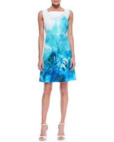Melany Sleeveless A-Line Silk Dress   Melany Sleeveless A-Line Silk Dress