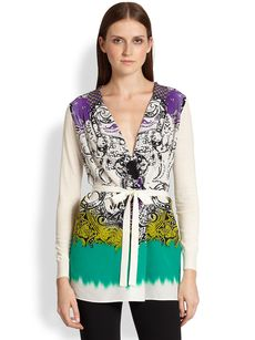 Etro Wool & Silk Cardigan