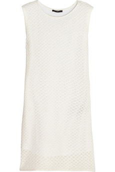 Tibi Crocheted cotton mini dress