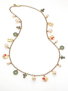 Tory Burch Theresa Rosary Charm Necklace