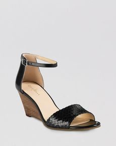 Cole Haan Open Toe Wedge Sandals - Rosalin Weave