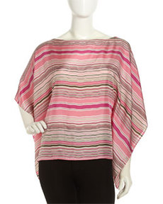 Lafayette 148 New York Striped Mirabelle Top, Primrose