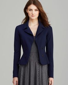 Three Dots Peplum Back Blazer