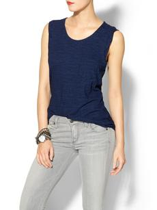 Splendid Indigo Dye Dark Solid Pocket Tank