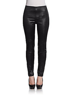 Catherine Malandrino Axelle Embossed Leggings