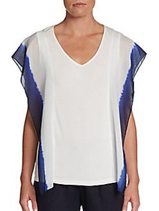 Ellen Tracy Shoulder-Overlay Top