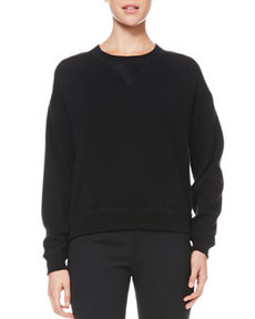 Satin-Back Wool Sweatshirt   Satin-Back Wool Sweatshirt