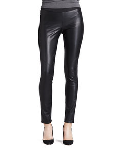 Paige Denim Paloma Mix-Fabric Leggings