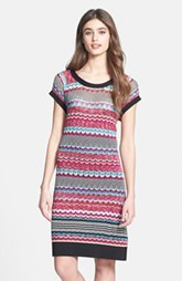 Laundry by Shelli Segal Multi Stitch Sweater T-Shirt Dress (Petite) (Petite)