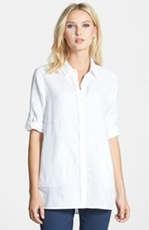 Lafayette 148 New York 'Alma' Cross Dyed Linen Blouse