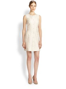 Dolce & Gabbana Jacquard Button Dress
