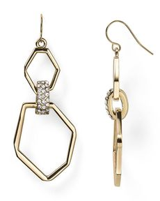 ABS by Allen Schwartz Open Link Double Drop Earrings